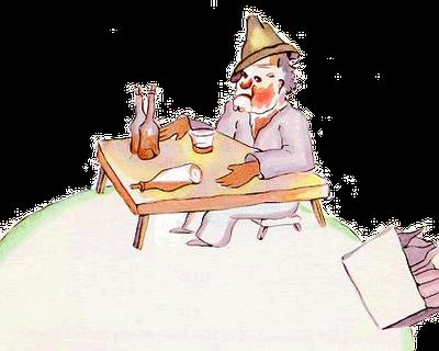 Ilustração - Bêbado de O Pequeno Principe