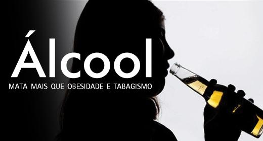 Álcool mata mais que obesidade e tabagismo